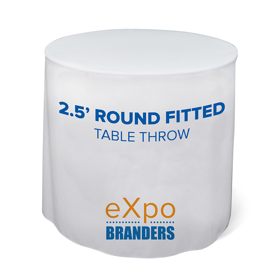 round- full color- fitted- table throw- throw- trade show- local- VA