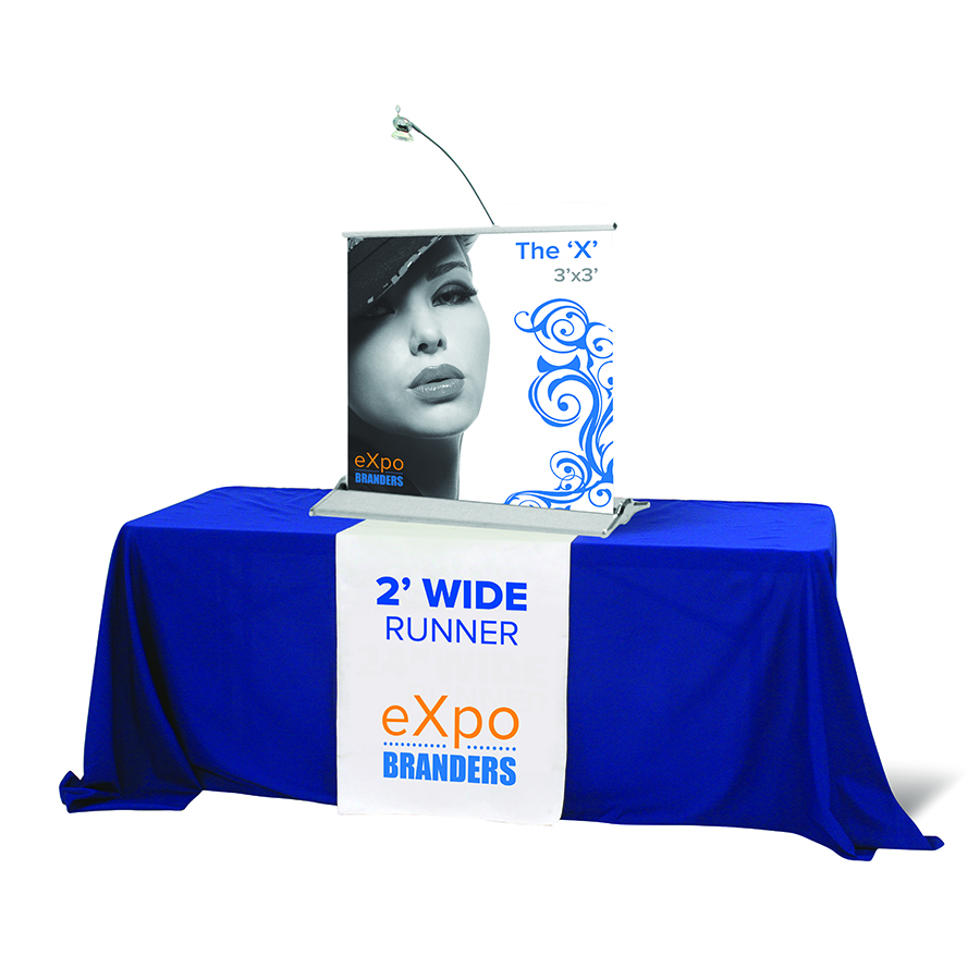2'- full color- table runner- runner- trade show- local- VA- eXpobranders