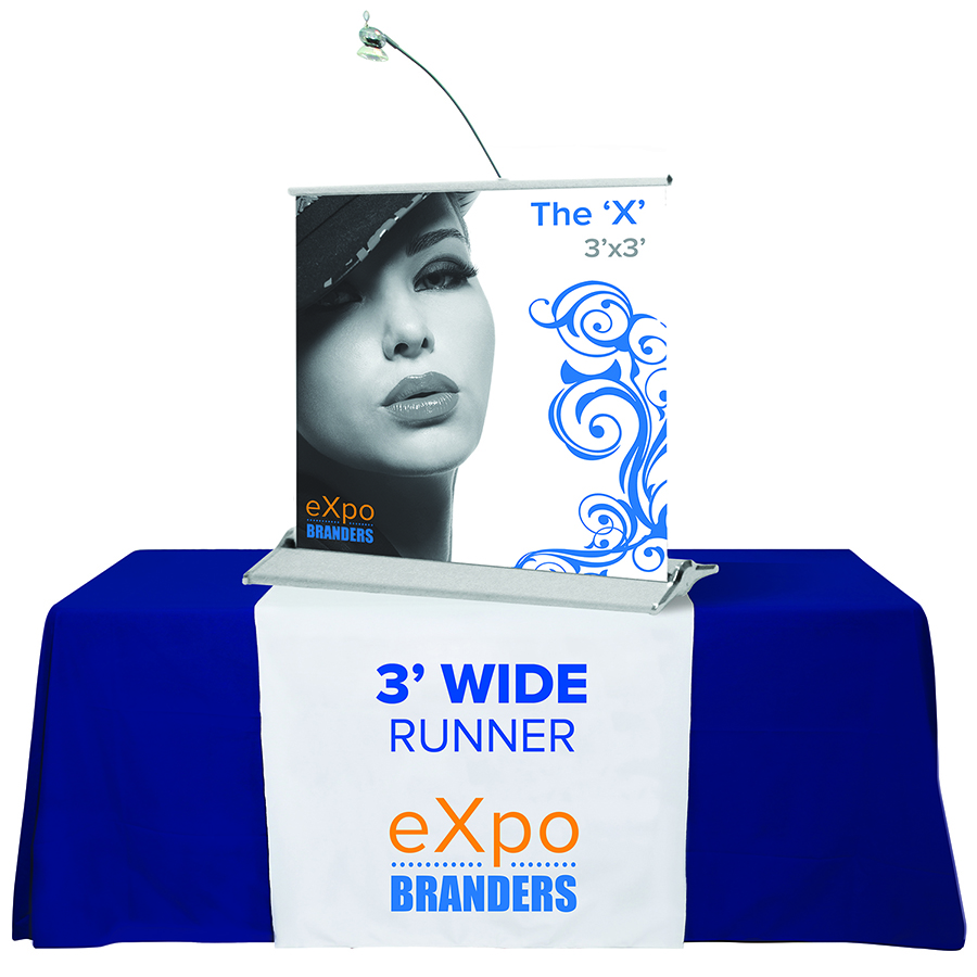 3'- full color- table runner- runner- trade show- local- VA- eXpobranders